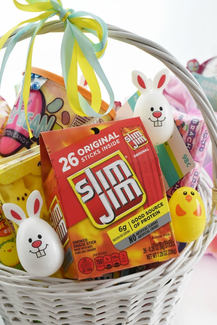 Slim Jim in Easter basket 1
