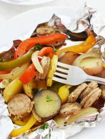 Chicken Sausage foil packet meal 1