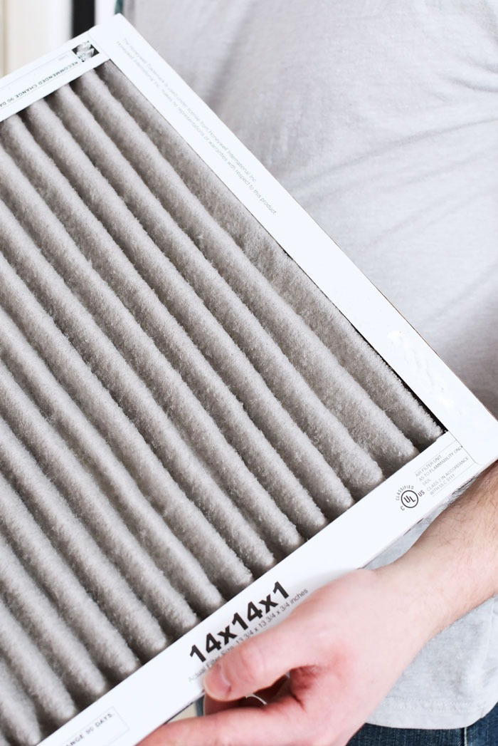 dirty air filter close up