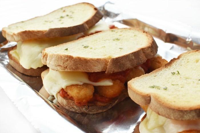 Fish Stick Marinara Sandwich 1