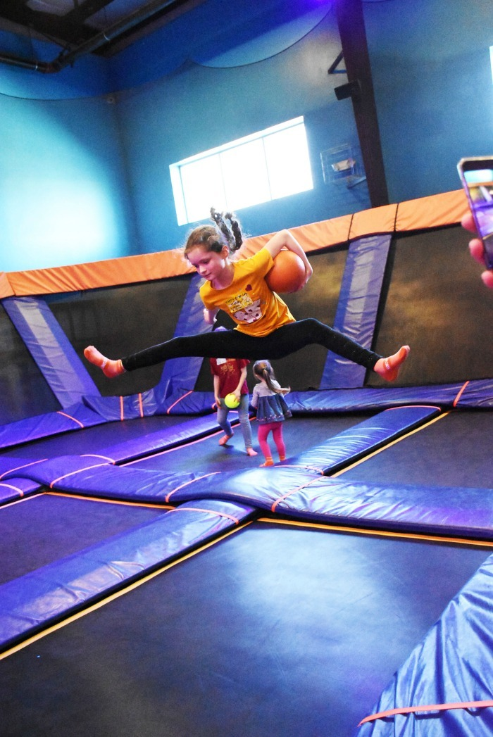 Girl Jumping at Sky Zone Providence 1