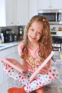 Girl with homemade freeze pops 1
