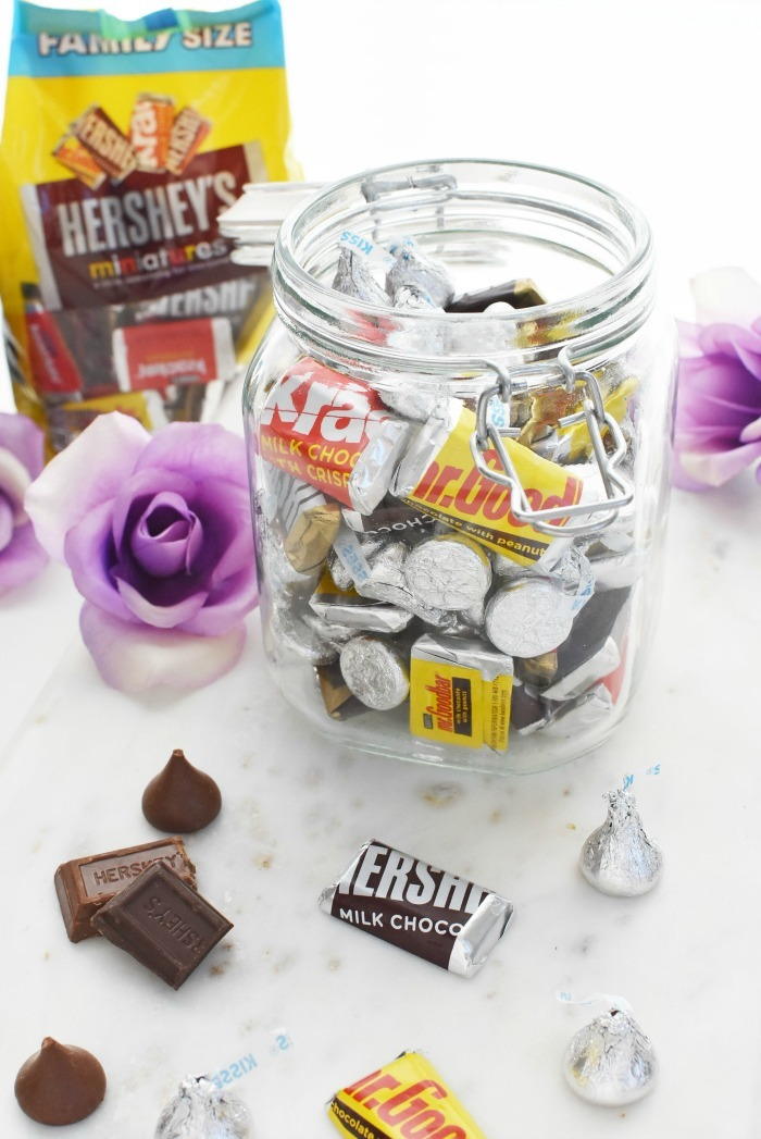 Hershey's Chocolate in glass jar 1