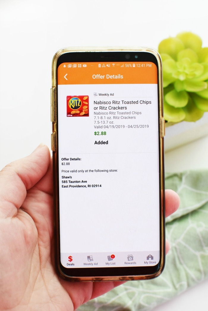 Just for U Rewards app Ritz 1