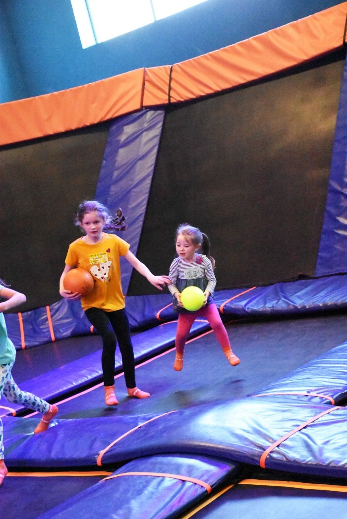 Kids playing Dodgeball at Sky Zone 1