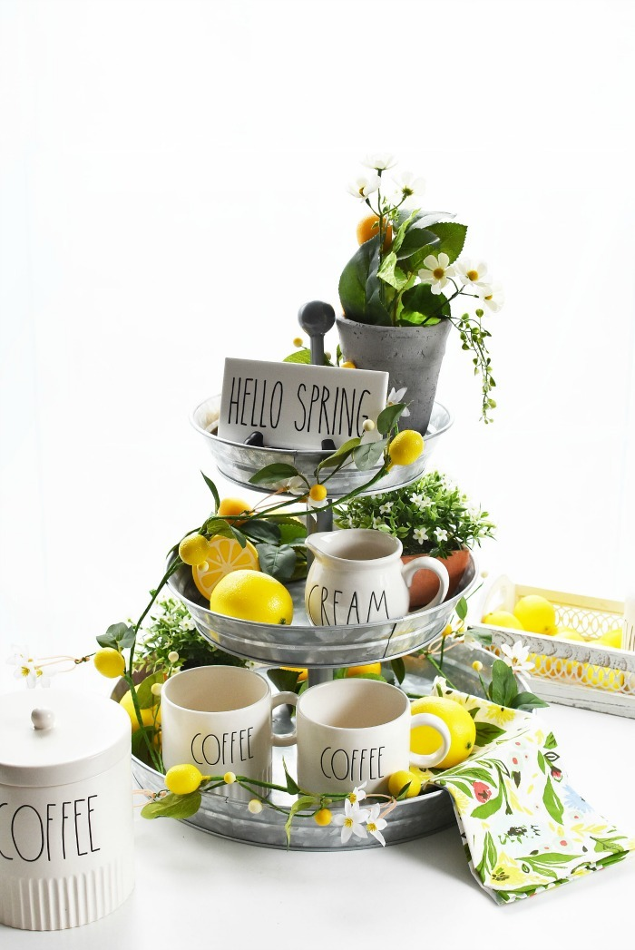 Lemon Themed Farmhouse Coffee Bar 1