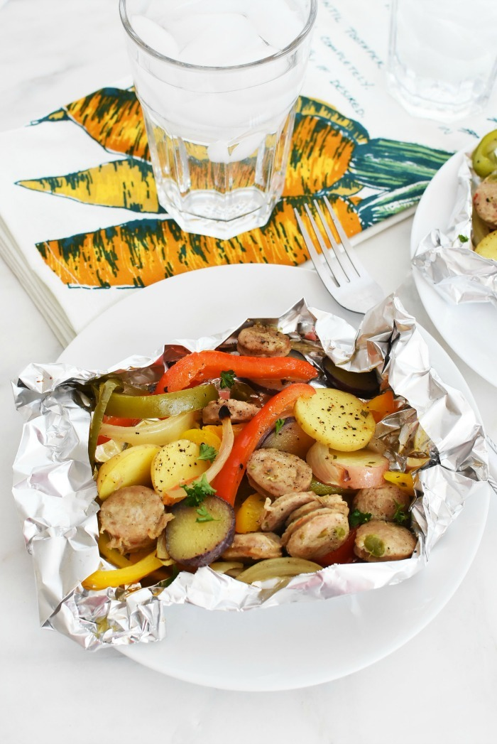 Sausage Foil packet dinner 1