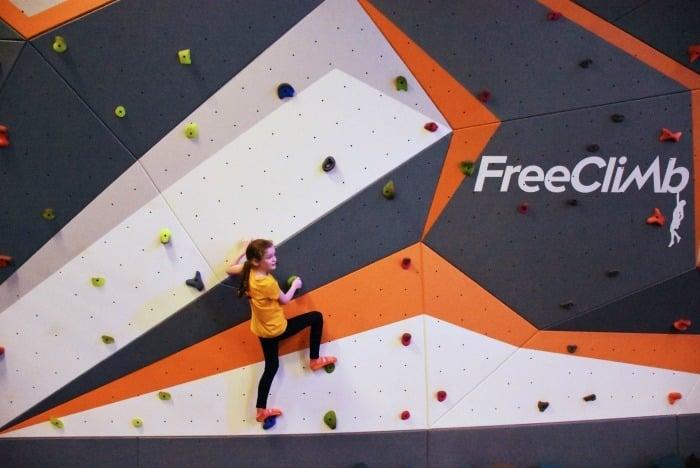 Sky Zone Free Climbing Wall 1