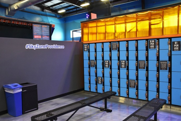 Sky Zone Providence Locker area 1