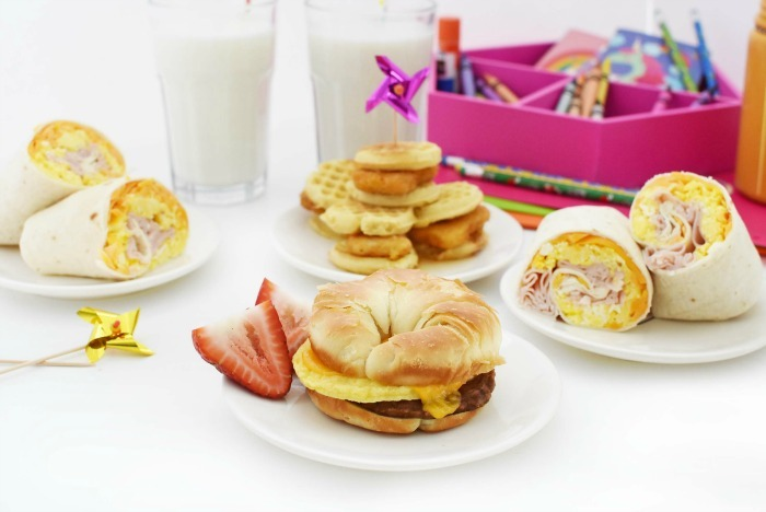 warm breakfast sandwich options