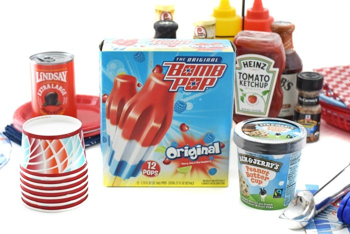 bomb pops and other cookout supplies