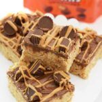 Reeses Peanut Butter Cups Cereal Treat Bars recipe