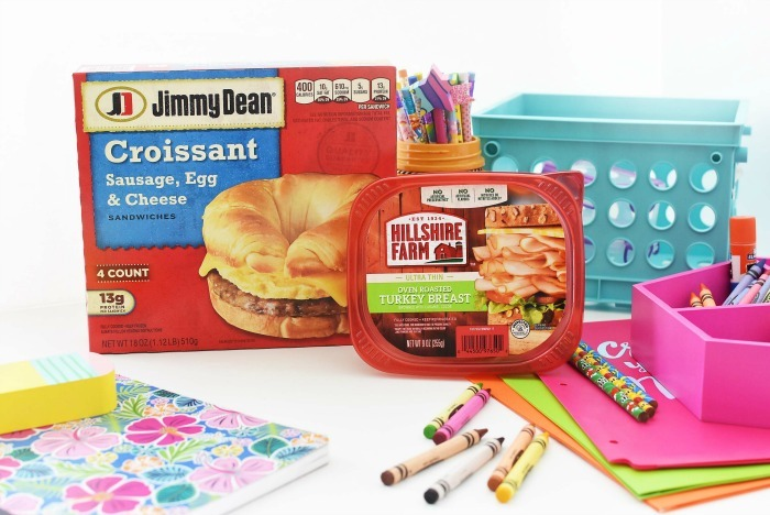 tyson breakfast foods with school supplies