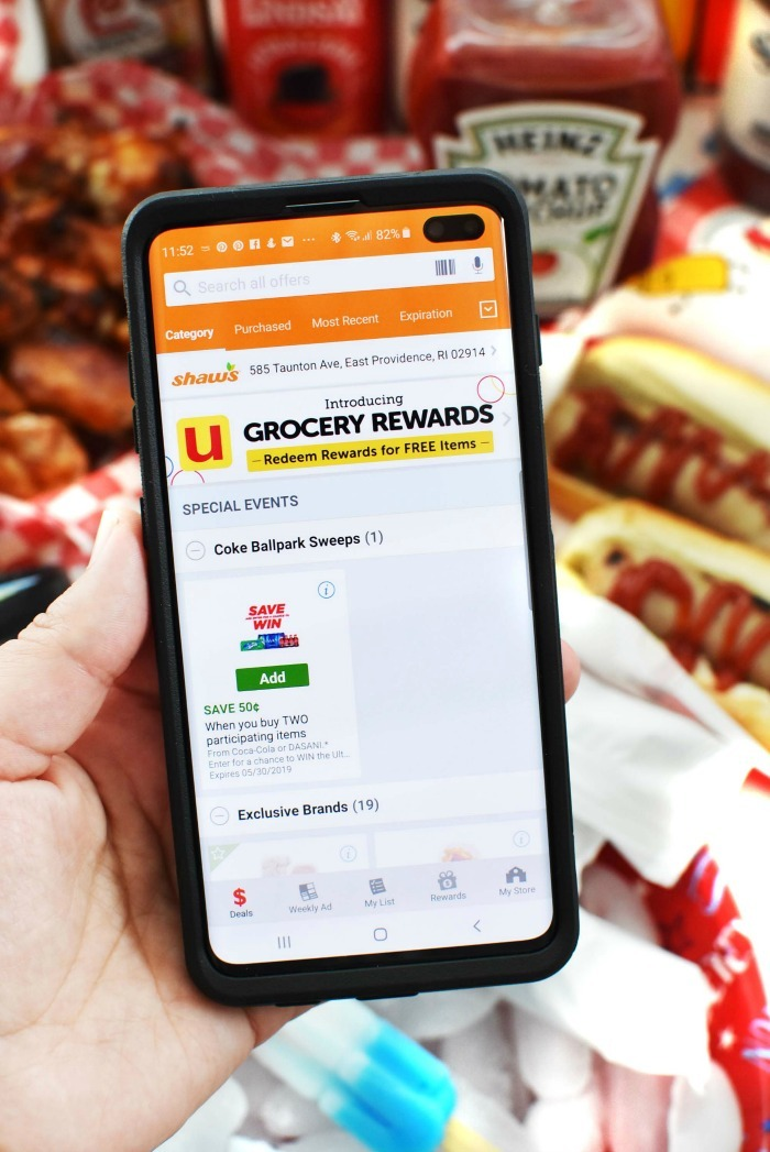U Grocery Rewards app on phone