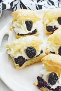 Blackberry Cream Puffs