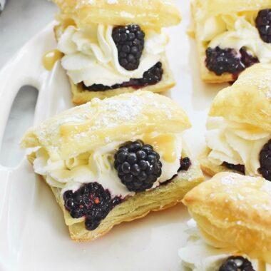 Blackberry Cream Puffs