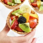 colorful Fruit and yogurt bowls