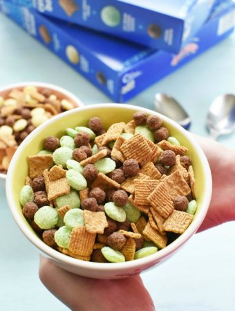 Mint Drumstick Cereal in a bowl