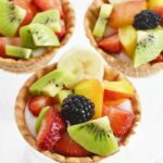 Waffle cone cup fruit snacks