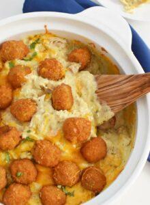 Cheesy Chicken Tater Tot Casserole
