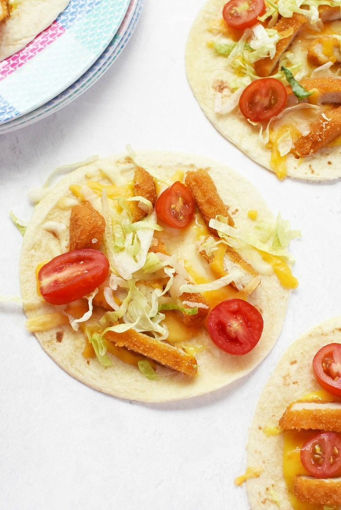 Chicken Tostadas for Kids