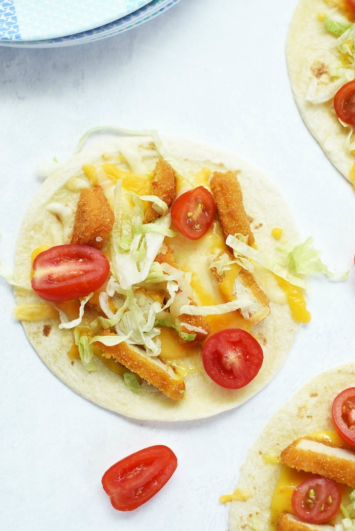 Chicken Tostadas for children