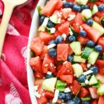 Cucumber Watermelon Feta Salad