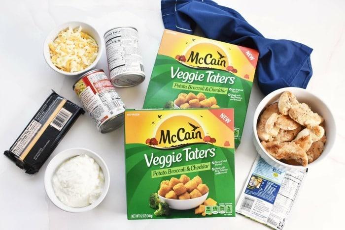 McCain Veggie tots & casserole ingredients