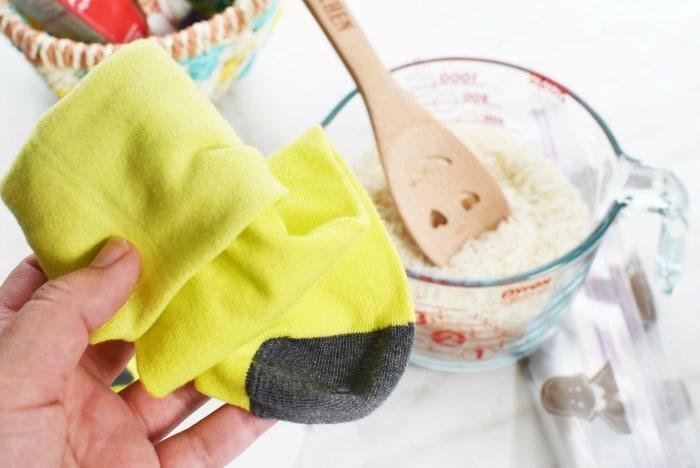 Sock hot cold bag DIY