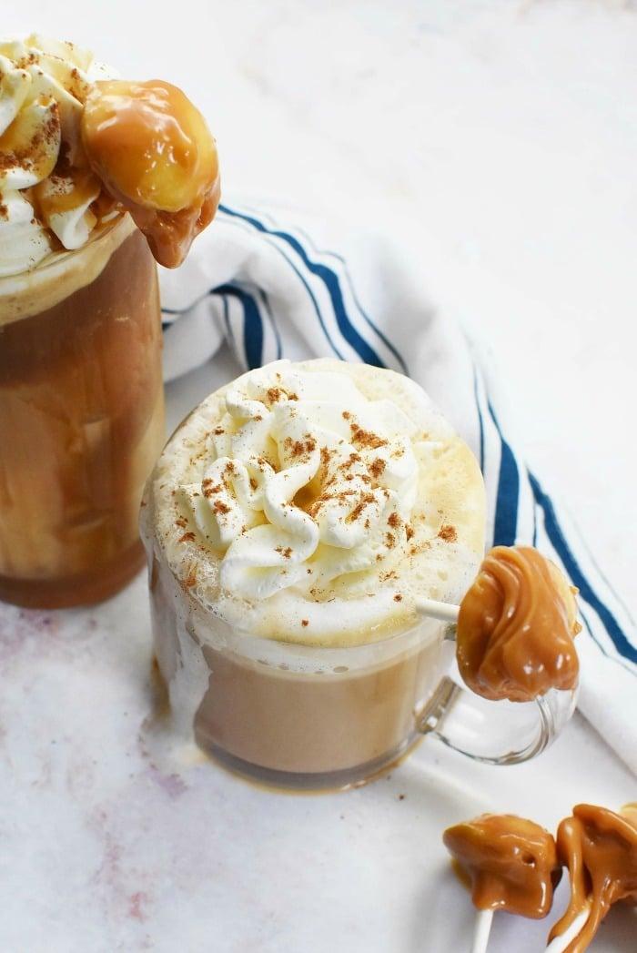 Caramel Apple lattes
