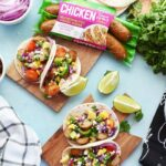 Chicken Tacos with Pineapple Mango Slaw