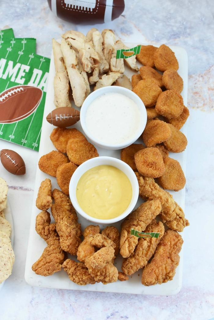 Chicken snack platter