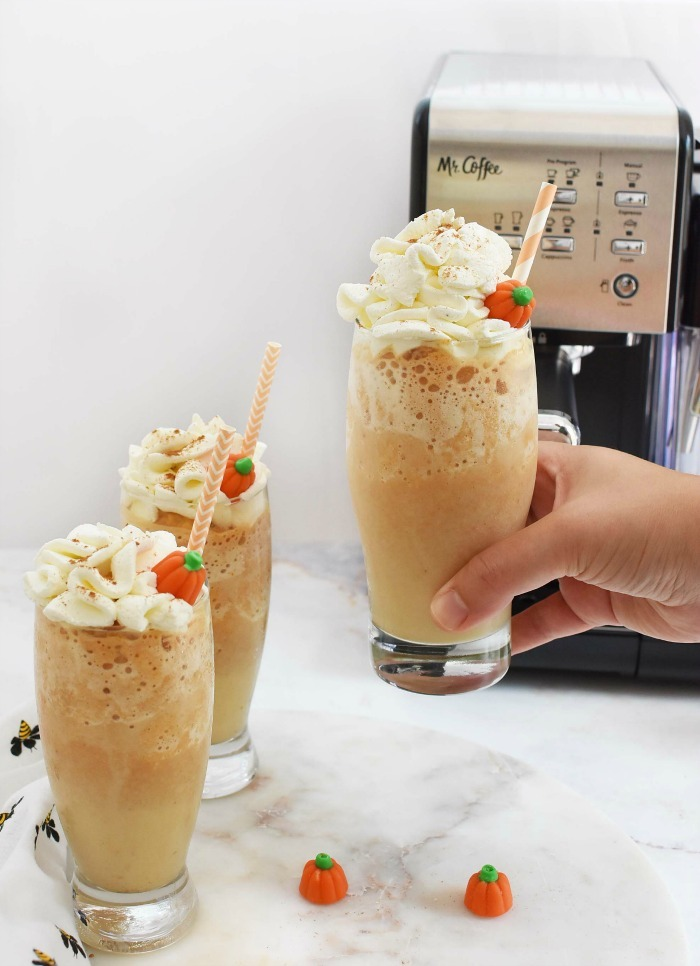 Frozen Pumpkin Spice Coffees