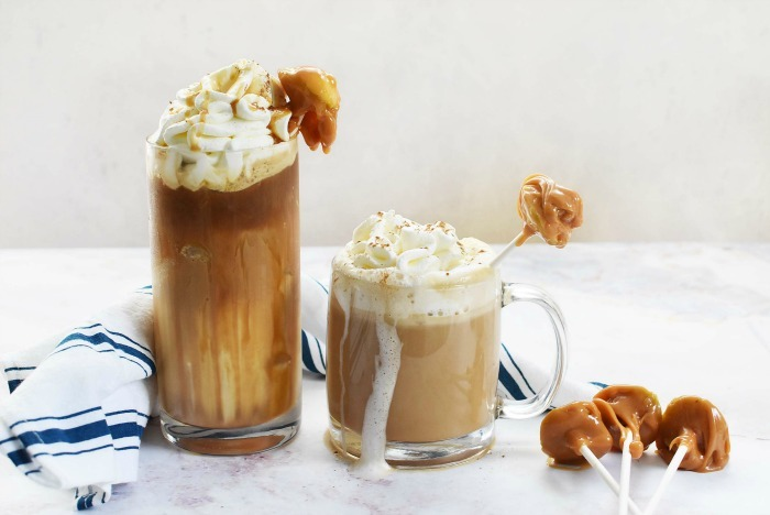 How to Make Caramel Apple Lattes