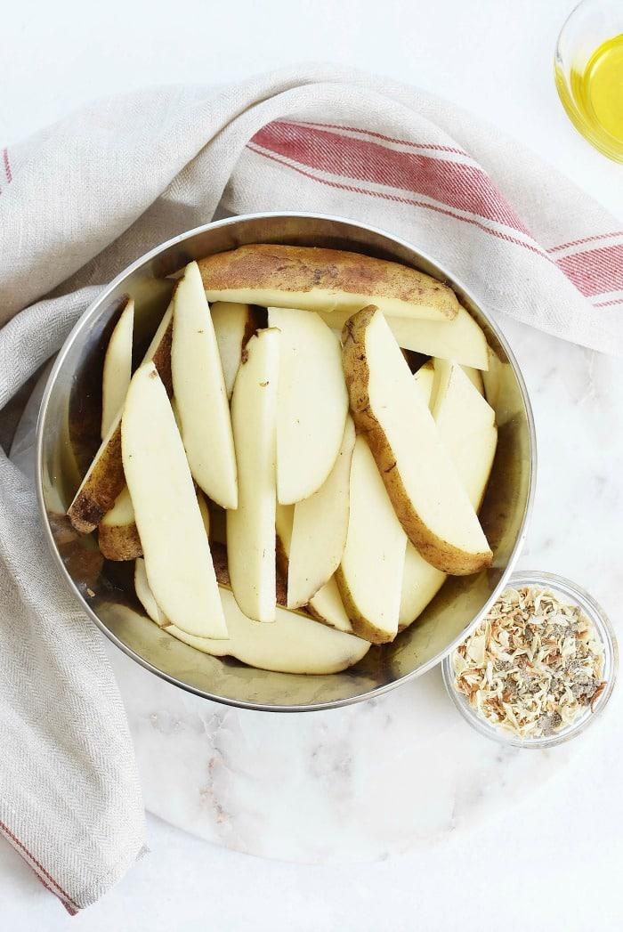 Sliced Potato Wedges