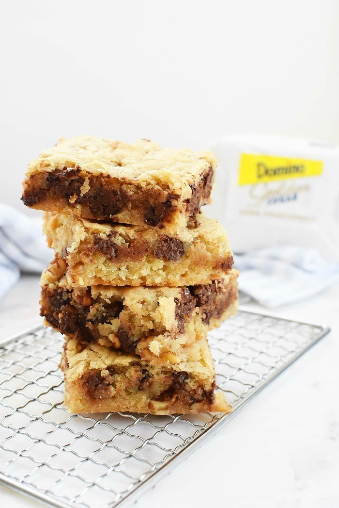 Blondies with Chocolate Chips and Nuts