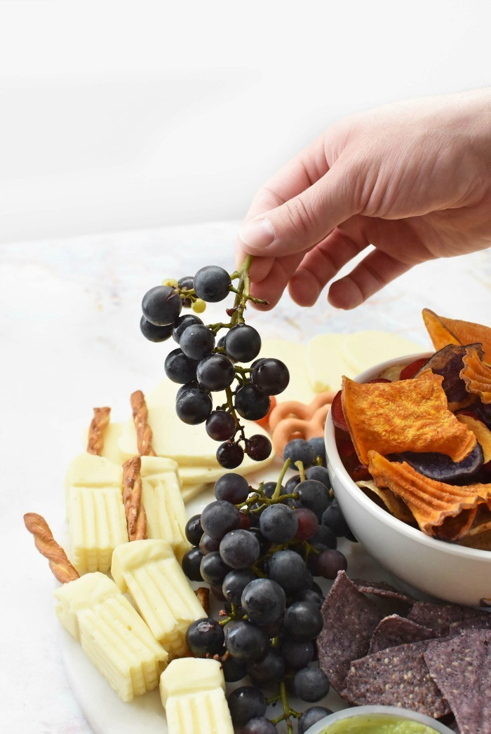 Grapes on Halloween Cheeseboard