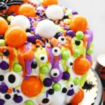 Neon Monster Eye cake