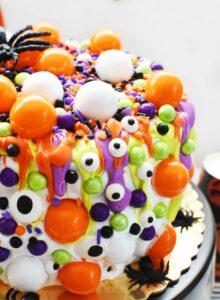 Neon Monster Eye cake