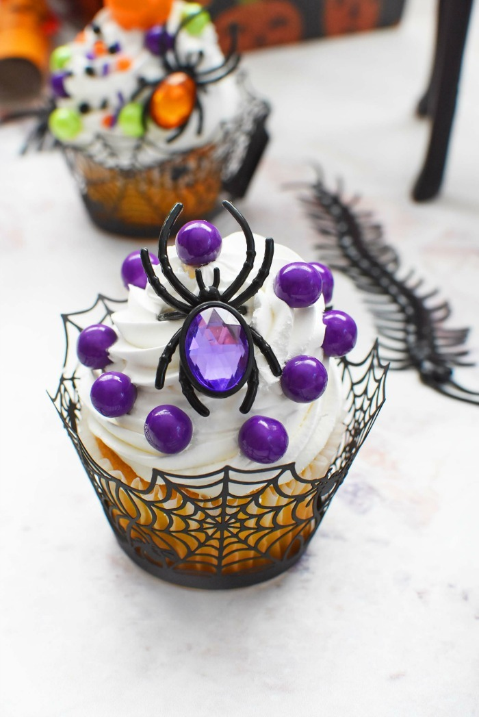Purple Spider Cupcake