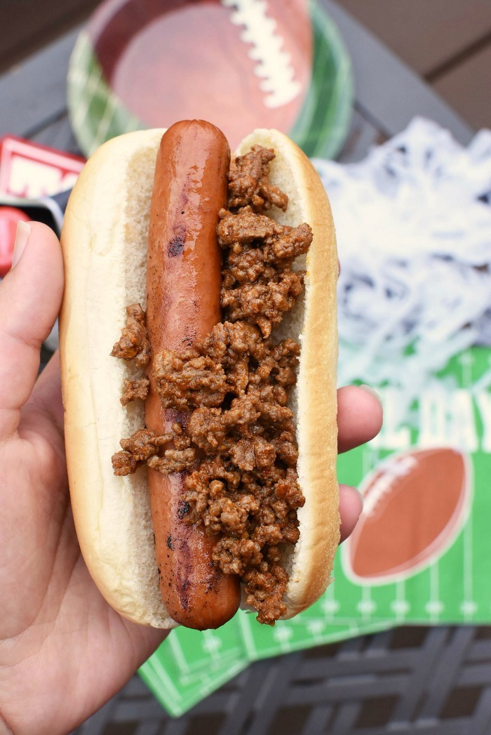 Hot dog with Taco Beef