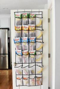 Over the door snack holder