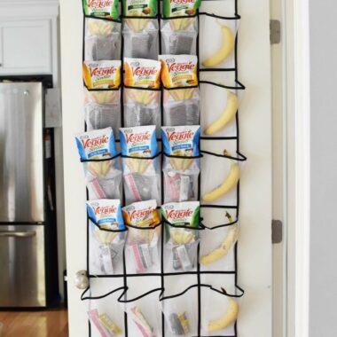Over the door snack holder