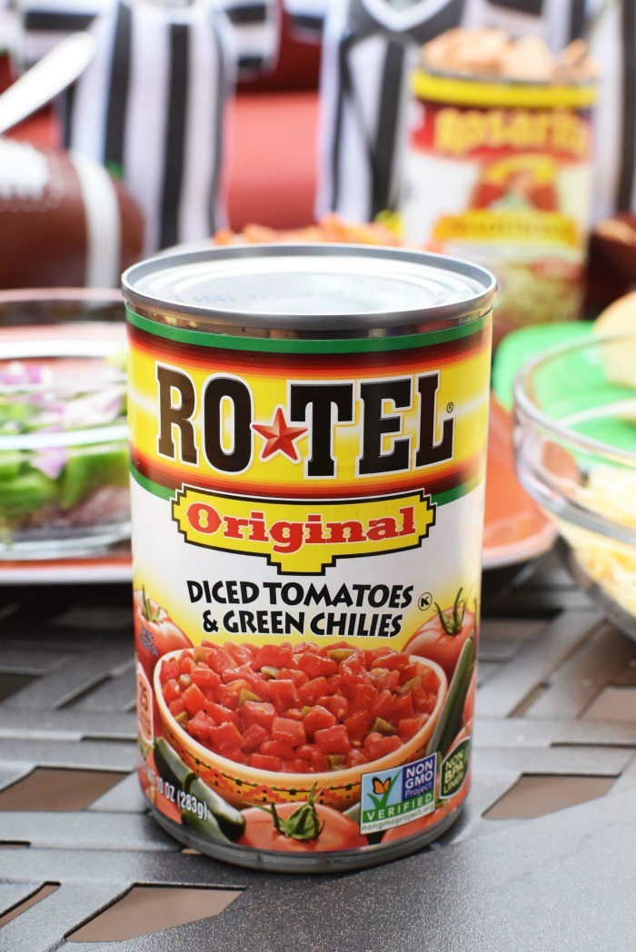 Rotel Original can on patio table.