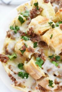 Sausage & Cheese Pull Apart Sourdough bread