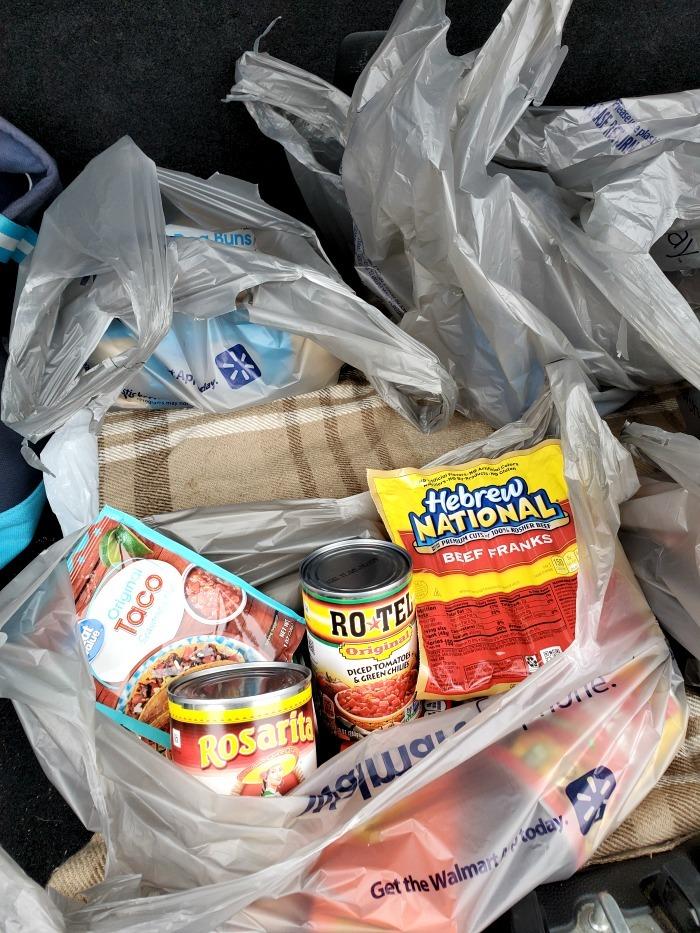 Walmart Grocery order items