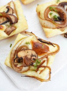 Balsamic Mushroom Onion Cheese Bites