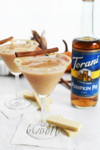 Pumpkin Pie Martini without Sugar