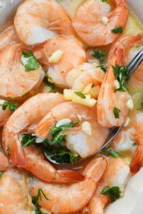 Sous Vide garlic shrimp