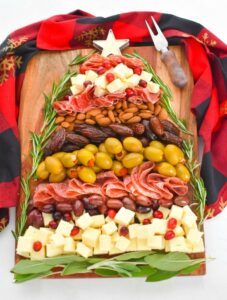 Cheese Board Christmas Tree